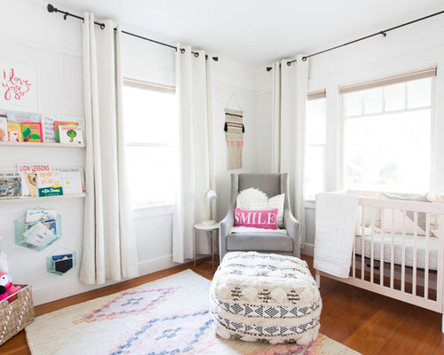 Example Of A Transitional Girl Medium Tone Wood Floor And Brown Floor  Nursery Design In Sacramento Part 57