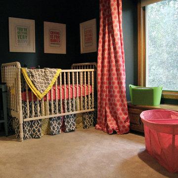 Bold, Colorful Baby Girl's Nursery