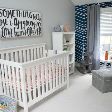 Boys nursery interior project