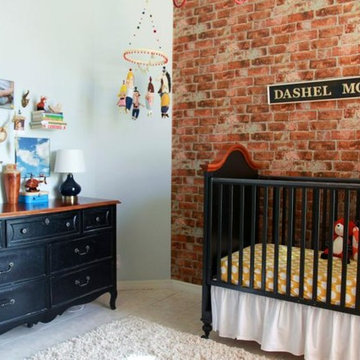 Brick Accent Wall In Kid's Room
