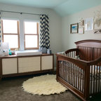 Antique White Chest Of Drawers Used As A Changing Table
