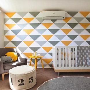Calm Yellow & Grey Nursery Interior