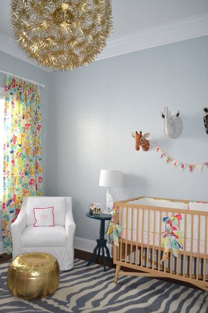 Traditional Nursery by Poplin & Queen Interiors