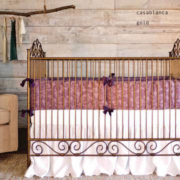 Casablanca Gold:  rustic luxe nursery