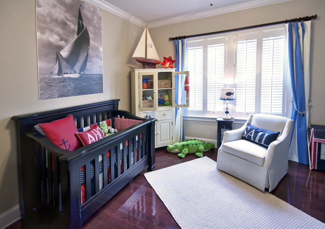 Contemporary Nursery by Charleston Home + Design Mag