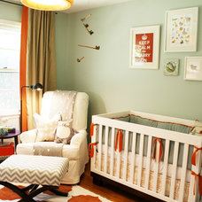 Transitional Nursery by Cristi Holcombe Interiors, LLC