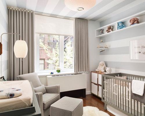 babyzimmer graustreifen unpersonliche on moderne deko idee ... - Moderne Babyzimmer