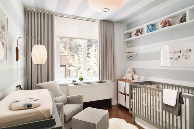 Contemporary Nursery by m monroe design. How to Decorate a Nursery to Grow With Your Baby