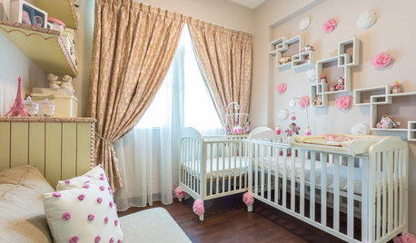 Room Tour: A Pretty-in-Pink Nursery for Twin Girls