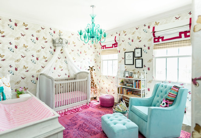Transitional Nursery by Moondrop Interiors