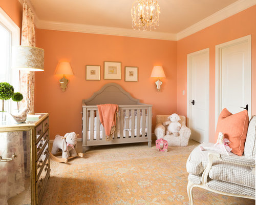 13 Nursery With Orange Walls Design Ideas amp Remodel Pictures Houzz