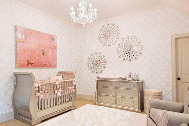 Good Transitional Nursery by Jamie House Design