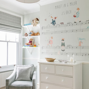 Inspiration for a small classic nursery in London.