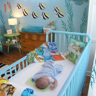 Example of an island style nursery design in Houston
