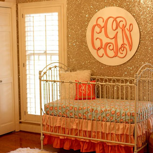 Coral & Gold Glitter Nursery