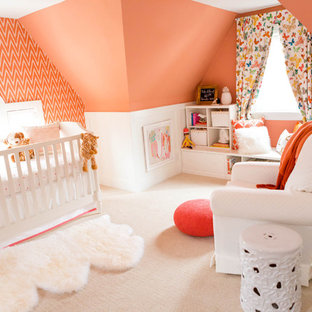 Design ideas for a traditional nursery in St Louis.