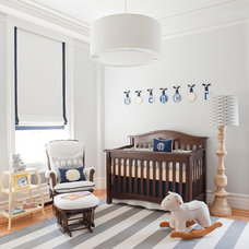 Transitional Nursery by Frances Herrera Interior Design