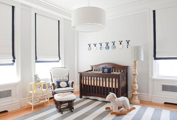 Transitional Nursery by Frances Herrera Interior Design