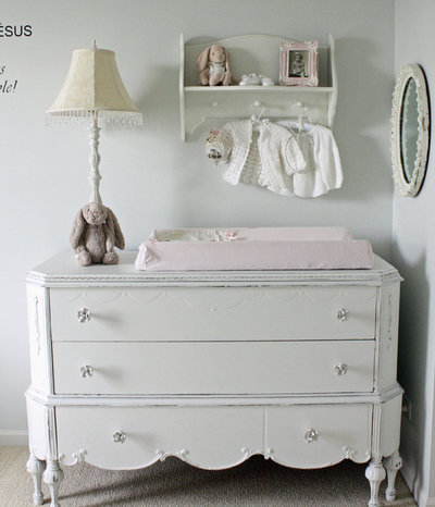 Shabby-chic Style Nursery Eclectic Kids