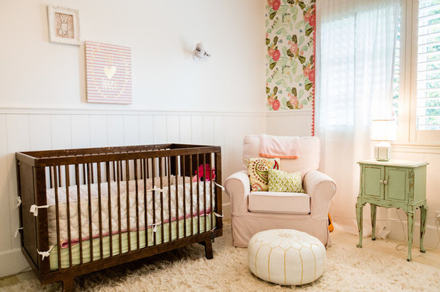 Trend Shabby chic Style Nursery by Nicole Queen Interior Design