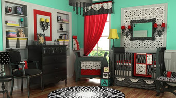 Elegant Black White & Red Nursery by DK Leigh