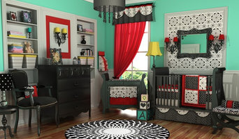 Elegant Black White & Red Nursery by DK Leigh