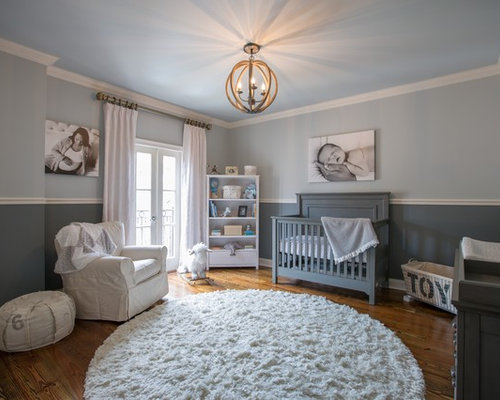 Nursery Design Ideas find this pin and more on baby nursery designing Transitional Gender Neutral Nursery Photo In New Orleans With Gray Walls And Medium Tone Hardwood