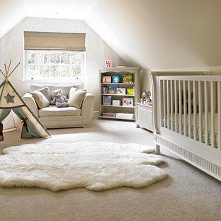 Skandinavische Babyzimmer Mit Beiger Wandfarbe Ideen Design