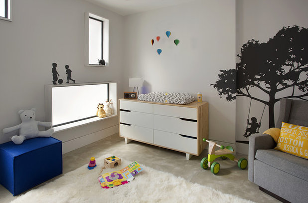 Contemporary Nursery by ZeroEnergy Design