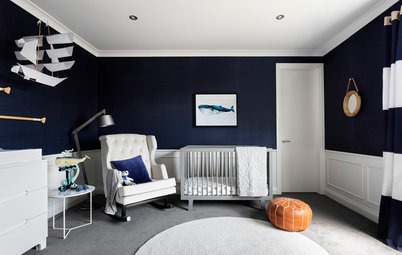 Room of the Week: A Hamptons-Style Nursery in Navy