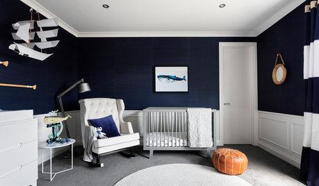 Room of the Week: A Hamptons-Style Nursery in Navy