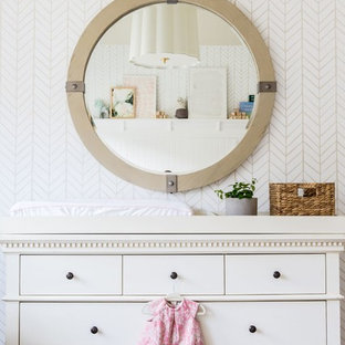 This is an example of a contemporary nursery for girls in Salt Lake City.