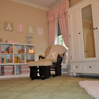 Lavender Princess Nursery, Glitter Paint Wall - Shabby-Chic Style ...