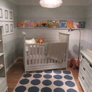 Design ideas for an eclectic gender neutral nursery in Other.