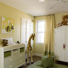 Transitional Nursery by Liz Levin Interiors
