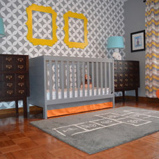 Contemporary Nursery by Janna Makaeva/Cutting Edge Stencils