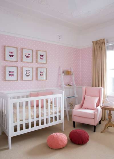 Transitional Nursery by Horton & Co. Designers