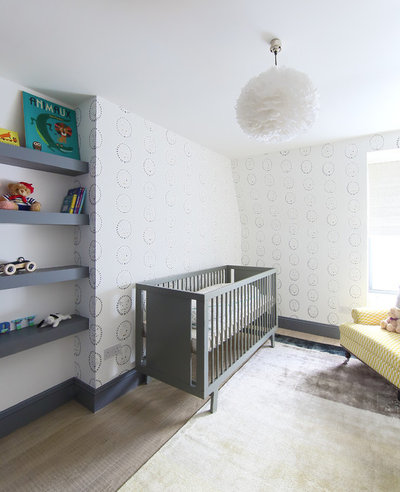 Scandinavian Nursery by Geraldine Morley Interior Design Ltd
