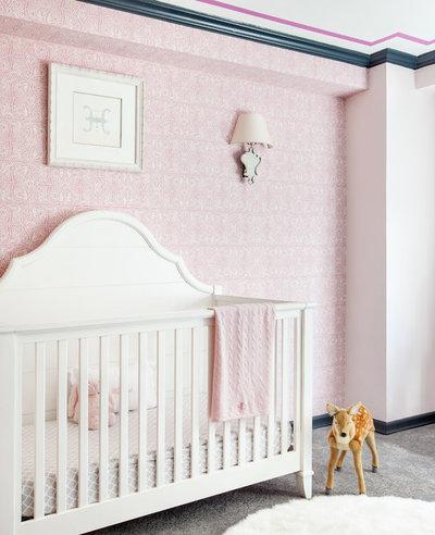 Transitional Nursery by Touijer Designs
