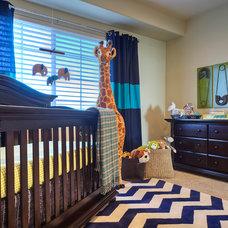 Contemporary Nursery by La Casa Azul Design