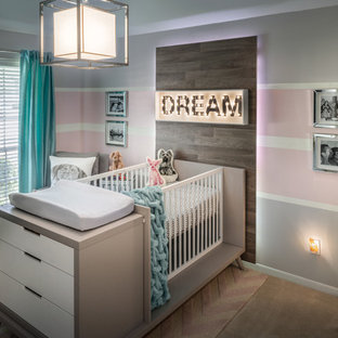This is an example of a small contemporary nursery in Houston.
