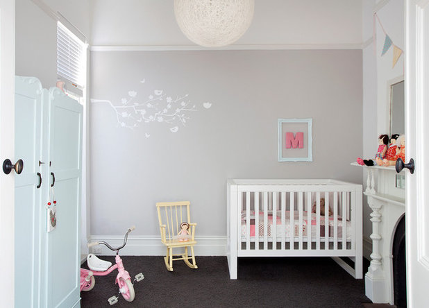 Transitional Nursery Houzz Tour: Elsternwick Addition