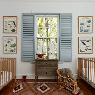 Inspiration For A Clic Gender Neutral Nursery In London With White Walledium Hardwood Flooring