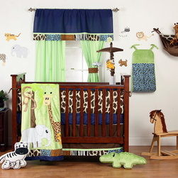 Jazzie Jungle Baby Room - Jazzy Jungle baby bedding features fun animals and animal prints.