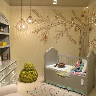 Nursery Small Modern Gender Neutral Idea In Other With Yellow Walls