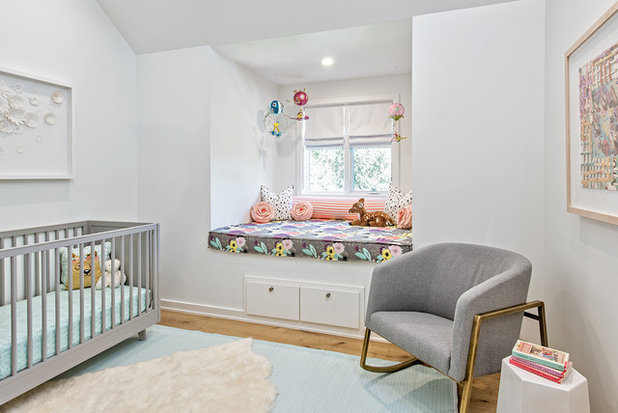 Transitional Nursery by Christen Ales Interior Design
