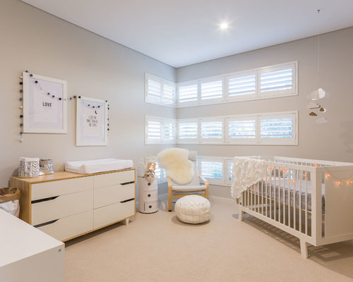 Scandinavian nursery design ideas renovations photos Scandinavian baby nursery