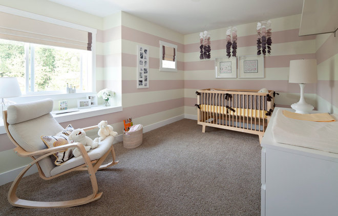 Transitional Nursery by i3 design group