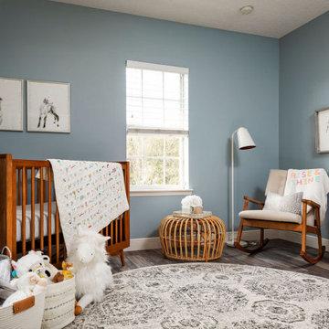 Mid-Mod + Boho Nursery