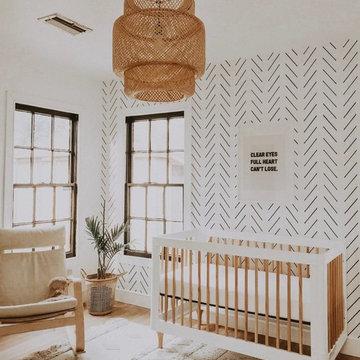 Minimal Boho Nursery Interior